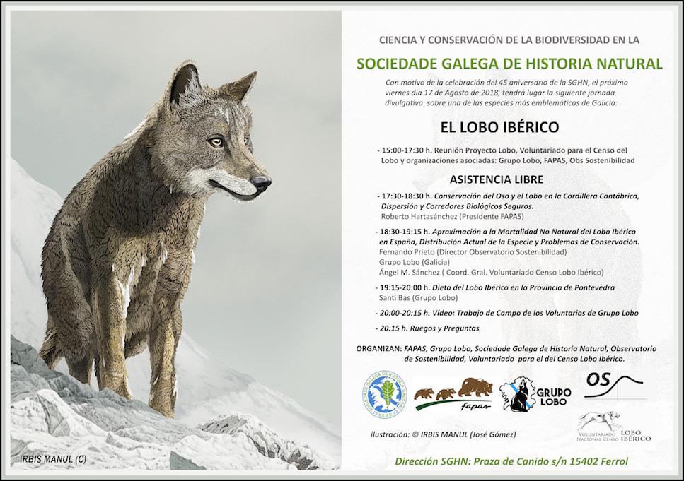 Cartel lobo iberico