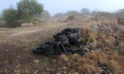 Veiga de Gomareite 2015-10-03. Montoneira pneumáticos