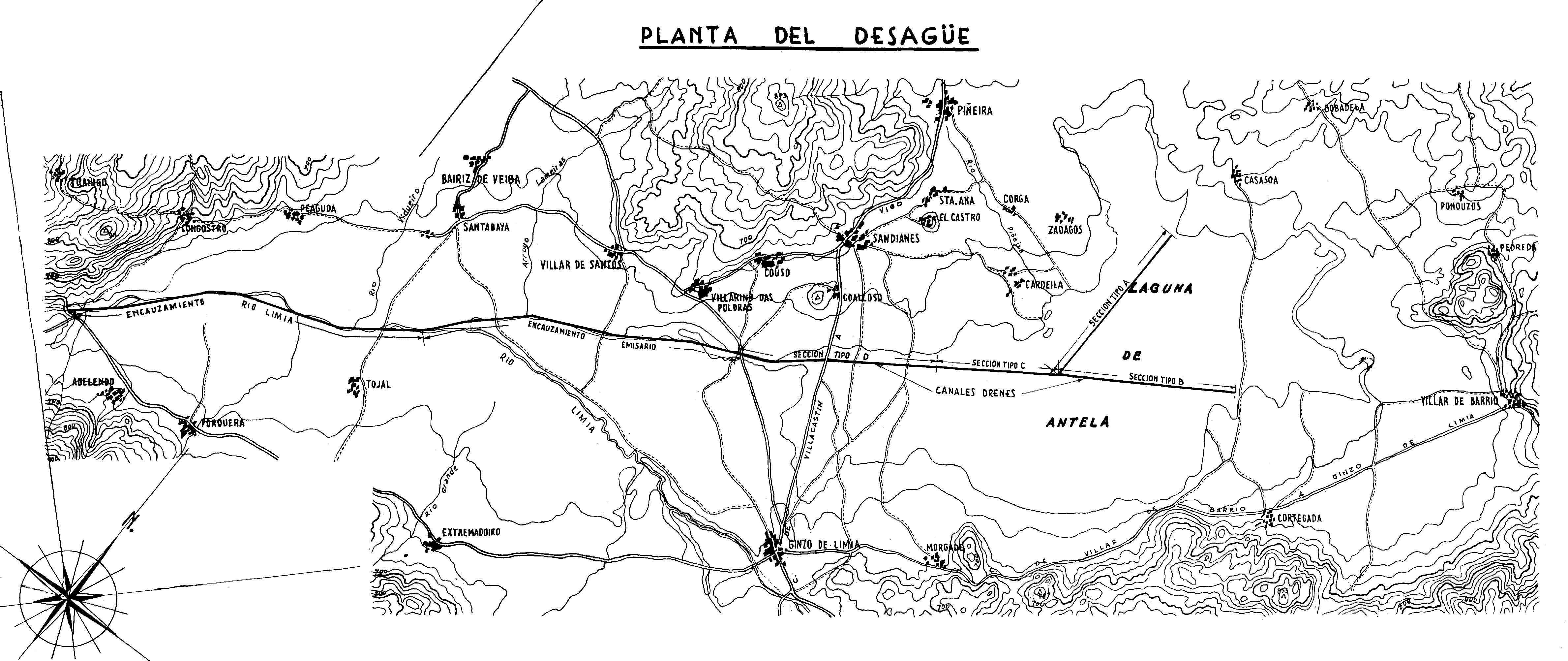 Planta desougamento proxecto 1957