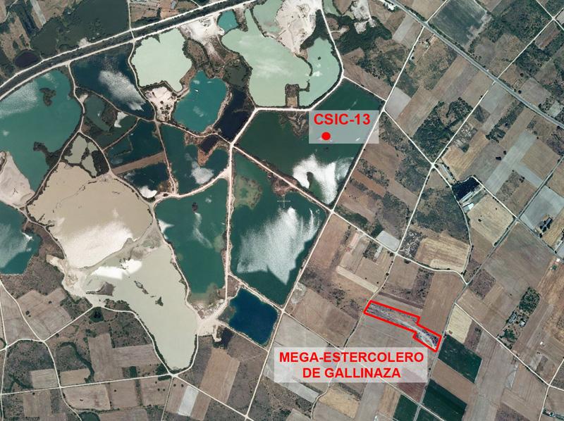 Imaxe do SIGPAC coa situación da mega-esterqueira.