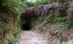 Entrada dunha antiga bocamina en Corcoesto