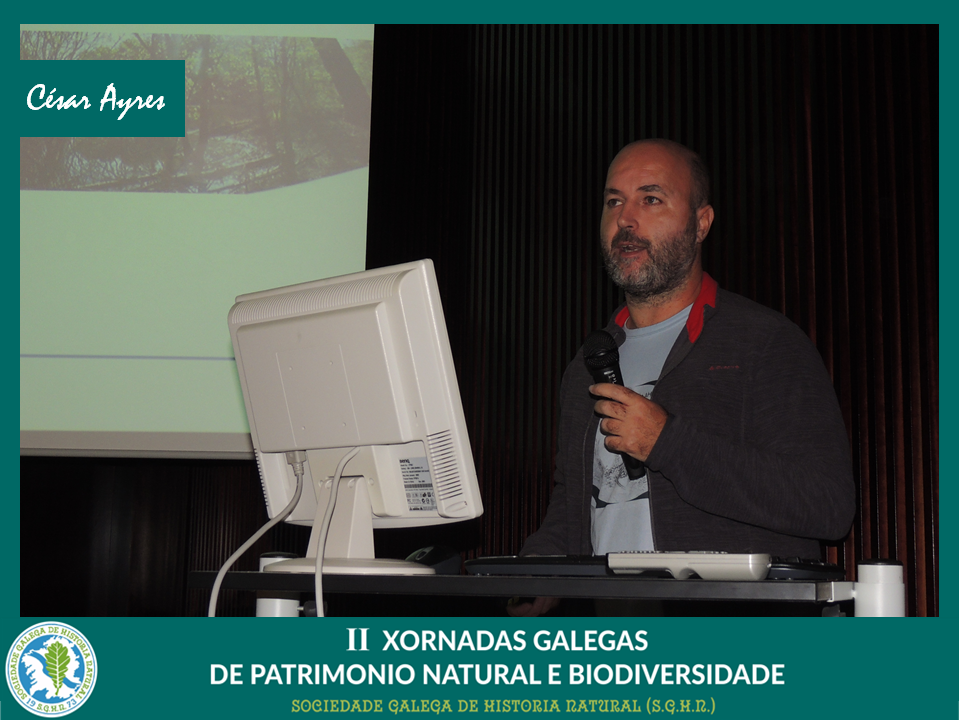 Conferencia de César Ayres sobre recuperación de minas e hérpetos ameazados
