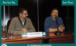 Inauguración das xornadas por Juan Picos e Xosé Lois Rey