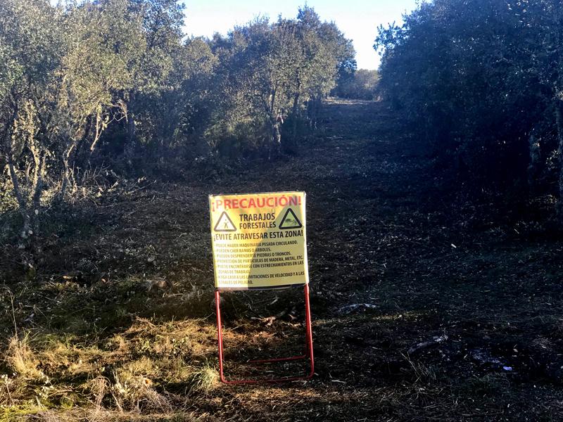 Desbroces no PN da Serra de Enciña da Lastra